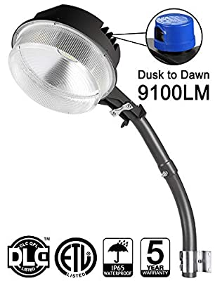 70W LED Barn Lights LEDMO - with Monuting Arm 9100lm Dusk to Dawn LED Outdoor Security Flood Lights with Photocell Area Lighting 5000K Daylight LED Yard Lights Brightest Waterproof