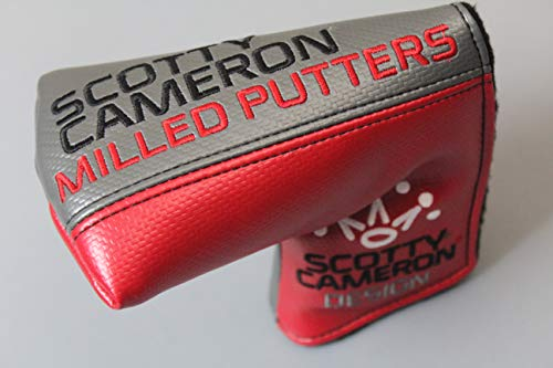 Scotty Cameron Authentic Putter Headcover - Mid Mallet Style RED/Gray