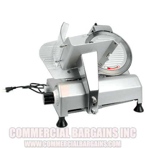 Commercial Food Slicer 10'' Blade Meat Cheese Deli 110V 530RPM CE Approved NEW
