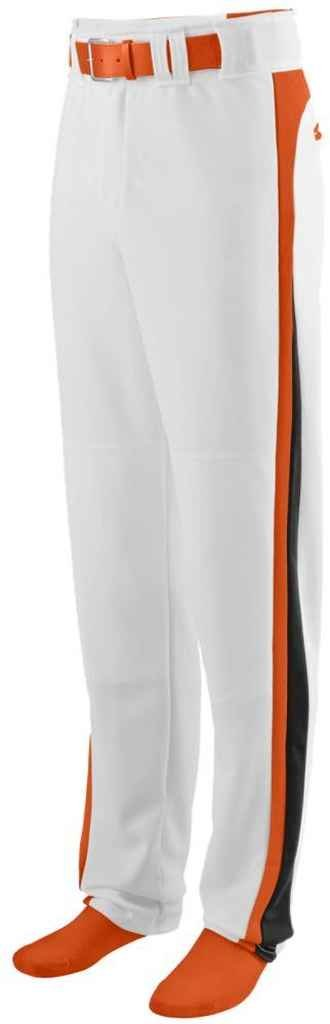 1477 Slider Baseball/softball Pant WHITE/ORANGE/BLACK L Augusta AG1477