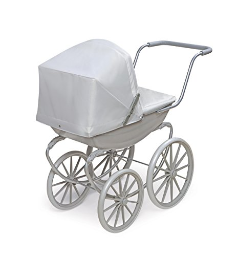 Badger Basket London Doll Pram ,fits American Girl Dolls, Gray by Badger Basket (Image #1)