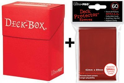 Mini Box Ultra Sleeves Gi Size Deck 60 Small Red Oh Pro Japanese Yu Protector qErOFEwUx