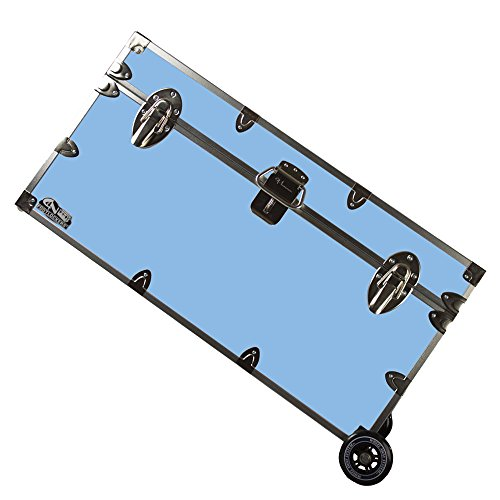 College Dorm Room & Summer Camp Lockable Trunk Footlocker with Wheels - Undergrad Trunk by C&N Footlockers - Available in 20 colors - Large: 32 x 18 x 16.5 Inches by C&N Footlockers (Image #1)