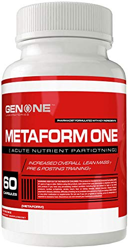 GenOne Metaform One Glucose Disposal Agent (GDA), Blood Sugar Control, Acute Nutrient Partitioning, Improve Glucose Control & Insulin Sensitivity, Enhances Absorption of Key Nutrients, 60 Capsules