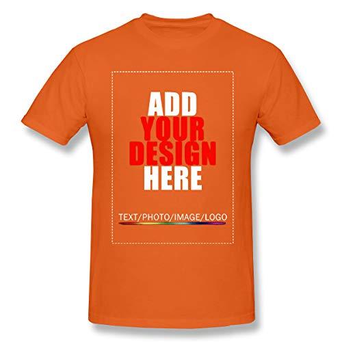 Men Custom T-Shirt Custom Shirt Design Your Own Personalized Shirts Print Text Or Image Orange L (Design Your Own Family Reunion T Shirt)