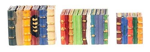 Scale Book Miniature Dollhouse (Dollhouse Miniature 1:12 Scale 3 Pc Colored Book Blocks SET #G8575)