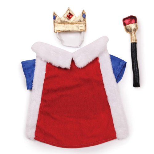 Zack and Zoey Royal Pup Dog Costume, X-Small, Red/Blue, My Pet Supplies