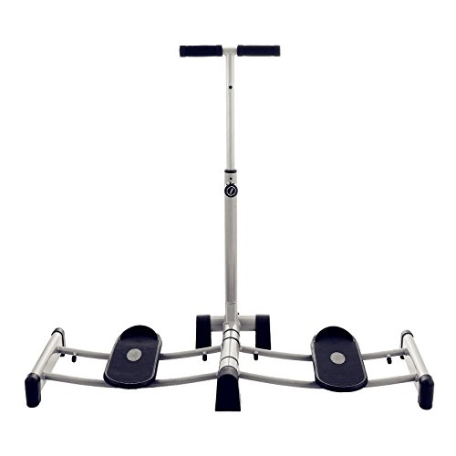 Popsport Foldable Leg Exerciser Thighs Exercise Fitness Leg Exercise Machine Stepper Gym Trainer Workout Leg Magic Exerciser with Handle Bars and Pedals