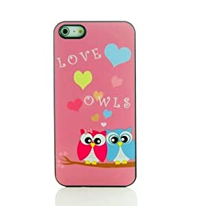 TYH - Pink Ladoo? iPhone 6 4.7 Case Phone Cover Forest Friend Pink Owls in Love Heavy Duty ending phone case