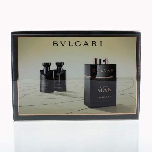 Bvlgari Man In Black By Bvlgari 3 Piece Gift Set - 2.0 Oz Eau De Parfum Spray, 1.35 Oz After Shave Balm, 1.35 Oz Shower