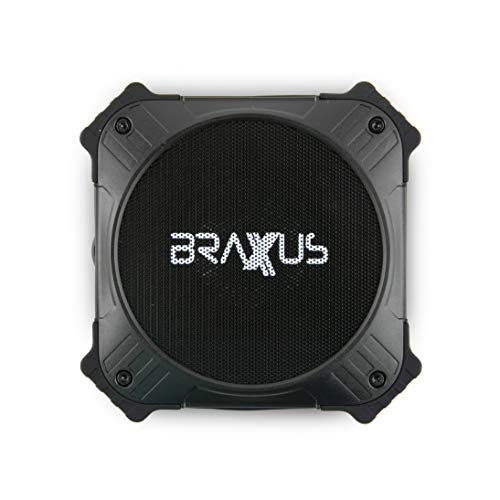 Braxus Solar Portable Bluetooth Speaker 5W, 12+ Hours Playtime Portable Speaker Solar Charger IPX6 Waterproof Wireless Bluetooth 4.2 Speaker, 2000mAh Power Bank for Outdoor Life - Solar Power Bank