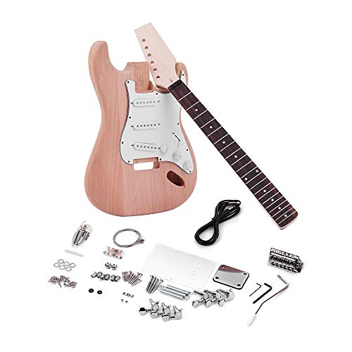 - Kalaok ST Style Unfinished DIY Electric Guitar Kit Mahogany Body Maple Guitar Neck Rosewood Fingerboard