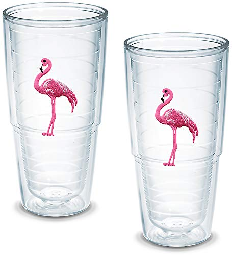 Tervis Tumbler Flamingo 24-Ounce Double Wall Insulated Tumbler, Set of -