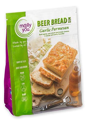 molly&drew Beer Bread Mix (20.10 Ounce) Garlic Parmesan
