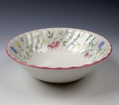 Johnson Brothers SUMMER CHINTZ GREENSTAMP Coupe Cereal Bowl EXCELLENT