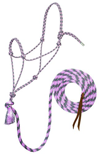 Lead Cowboy (Silvertip Weaver Leather No. 95 Rope Halter with 12' Lead)