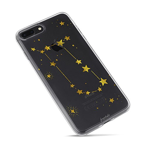 Compatible with iPhone 8 Plus,Girl Cute Funny Girls Teens Zodiac Girls Teens Gemini Cute Funny Starry Funny Moon Star Milky Way Gemini Zodiac Clear Case Replacement for iPhone 7 Plus/iPhone 8 Plus