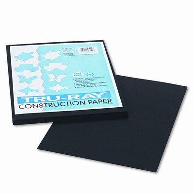 Tru-Ray Construction Paper, Sulphite, 9 x 12, Black, 50 Sheets [Set of 3] -