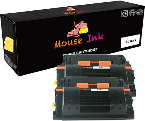 Laser Mouse Packard Hewlett (2 Packs Mouse Ink Compatible HP 64X CC364X Black BK Premium Quality HP64X HP6X Toner Cartridge Laserjet P4014dn P4014n P4015dn P4015n P4015tn P4015x P4515n P4515tn P4515x)