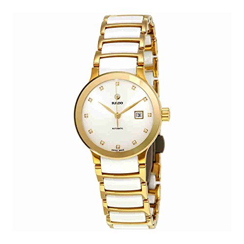 Rado-Centrix-Automatic-White-Diamond-Dial-Ladies-Watch-R30080752