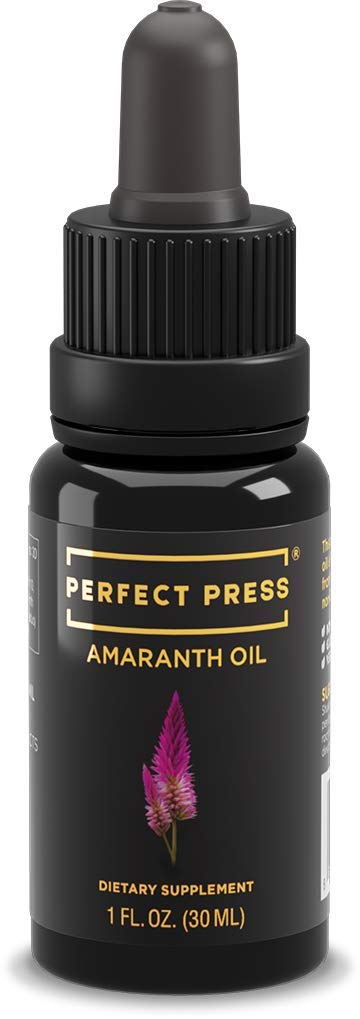 Perfect Press Non GMO Amaranth Seed Oil - Natural Face Moisturizer with Squalene Oil - Benefits Immune System, Brain Function and Skin - Made from Organic Amaranth Seeds, 30 ML