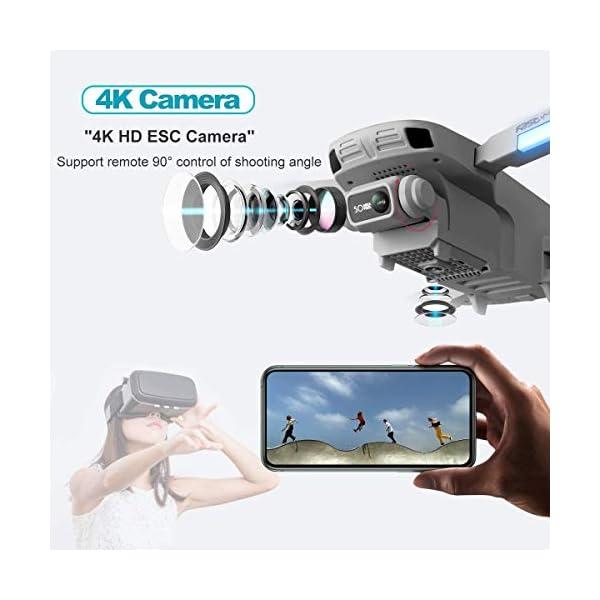 4DRC F8 Drone con Telecamera 4K UHD Drone GPS Pieghevole FPV RC con Ritorno Automatico a Casa, modalità Ritorno Home,Seguimi, Controllo Gestuale, 2 Batterie per 40 Minuti Volo e Valigetta da Trasporto 2 spesavip