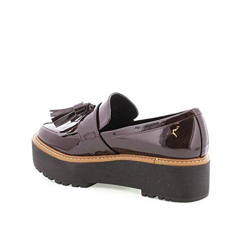 SIXTYSEVEN - 77375 - Zapato mocasin mujer - Talla: 41 - Color: Burdeos / Negro: Amazon.es: Zapatos y complementos