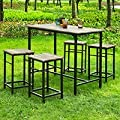 Haotian Sling High Bistro Set,Home Kitchen Outdoor Garden Bar Set,Patio Furniture, Dining Set