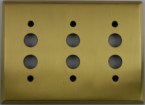 (Classic Accents Antique Brass 3 Gang Push Button Light Switch Wall Plate)