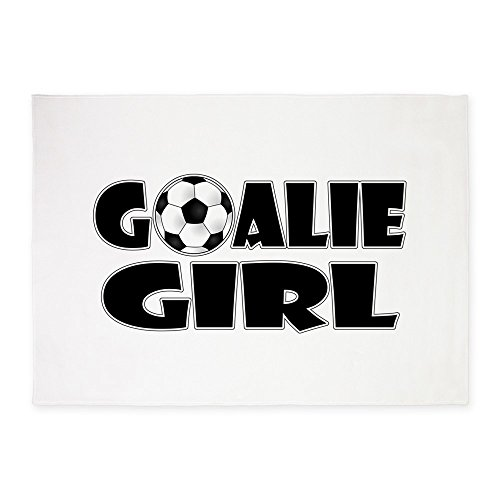 CafePress - Goalie Girl - Soccer - Decorative Area Rug, 5'x7' Throw Rug by CafePress