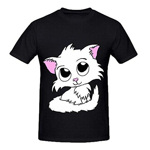 Mos Bacon (Cute Kitty White Cat Men O Neck Customized Shirt Black)
