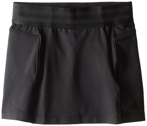 adidas Golf Girls' Climalite Essentials Rangewear Skort (Big Kids), Black Small