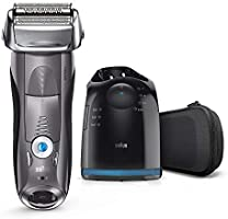 Braun Series 7 7865cc Electric Shaver for Men with Clean and Charge Station and Travel Case, Grey