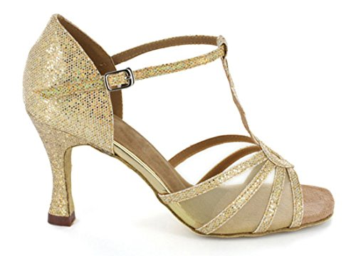 Womens Dance Tango Glitter Fashion Modern TDA Wedding Gold Ballroom strap Salsa T Synthetic Shoes Latin Baby 1aBfqwf