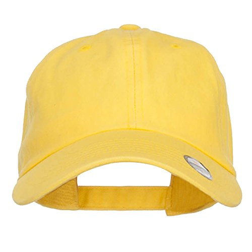 (Nissi Unstructured Cotton Twill Washed Cap - Yellow OSFM)