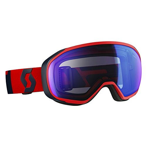 Scott Fix Goggle, lunettes unisex-adulto Taille unique Fluo Red/Eclipse Blue/Illuminator Blue Chrome