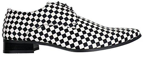 Noir Noirs Carreaux Blancs À Enfiler Original Chic Homme Chaussures Festif Italien Et Style qwCpnBn7