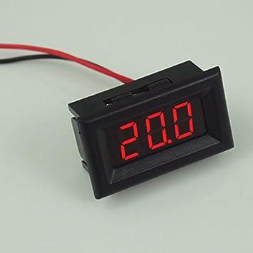 Demiawaking Zwei Kabel Digital Voltmeter LED Anzeige DC2.5-30V ...