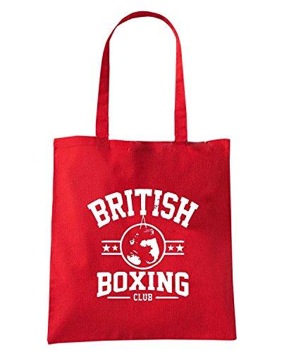 T-Shirtshock - Bolsa para la compra TBOXE0104 british boxing club Rojo