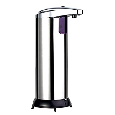 LEXPON Stainless Infrared Automatic Sensor Hand Sanitizer Soap Dispenser Silver