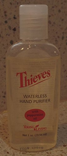 Thieves Waterless Hand Purifier With Peppermint Oil by Young Living - 1oz
