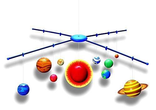SOLAR SYSTEM MOBILE - BAUSATZ - Planeten und die Sonne glüht im Dunkeln - tolle Größe und Dekoration für Dein Kinderzimmer (38 cm x 28 cm)