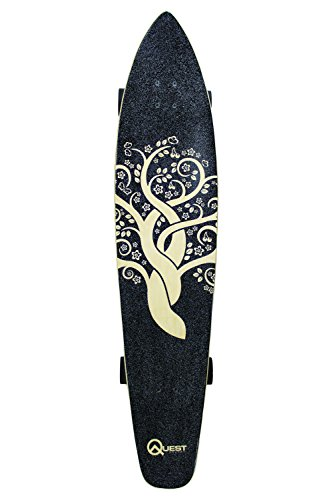 Quest The Super Cruiser Gaia Artisan Maple 44 Longboard Skateboard