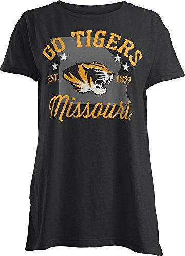 Three Square By Royce Apparel Ncaa Missouri Tigers Abingdon Short Sleeve T Shirt  X Large  Black