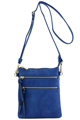 (Functional Multi Pocket Crossbody Bag (Royal Blue))