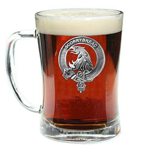 Beer Scottish (Nicholson Scottish Clan Crest Badge Glass Beer Mug)