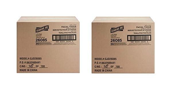 Amazon.com: Genuine Joe GJO26085 Cube Box Facial Tissue, 2-Ply, 85 per Box, White 2 Cases (36 Pack): Health & Personal Care