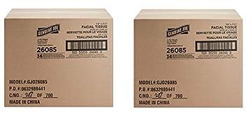 Genuine Joe GJO26085 Cube Box Facial Tissue, 2-Ply, 85 per Box,