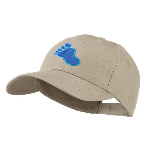 e4Hats.com Bigfoot Track Mascot Embroidery Cap - Khaki OSFM