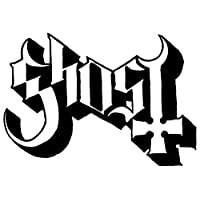 "Ghost Rock Band Logo Stickers Rock Band Symbol 6"" Decorative DIE Cut Decal - Black"